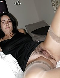 Chubby mommy waits for her lover while spreading her butt cheeks for anal