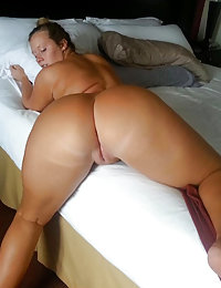 One Up in the Ass and Another into Pussy - Witness this Hot Tall Busty Brunette MILF Making Herself a Double Orgasm