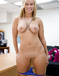 Busty MILF on a Leather Sofa and a Bucket Full Of Self Given Sexual Pleasure with This Very Big Two-Way Dildo She's Using