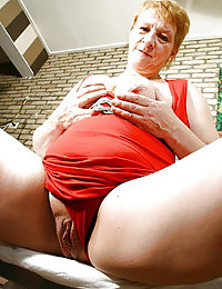 Old chubby gets her mouth pumped full of jizz