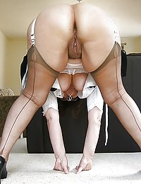 Salacious mature maid getting anal entertainment after a hard working day